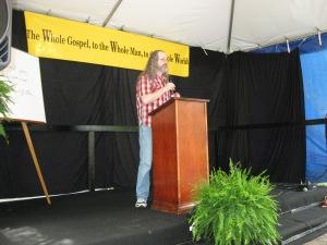 Louie teaching at God Unlimited 2013 in Louisville Kentucky